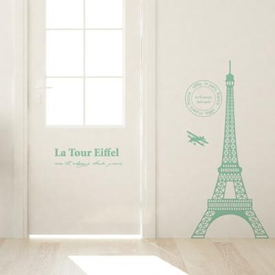巴黎铁塔 埃菲尔铁塔 沙发背景墙贴纸