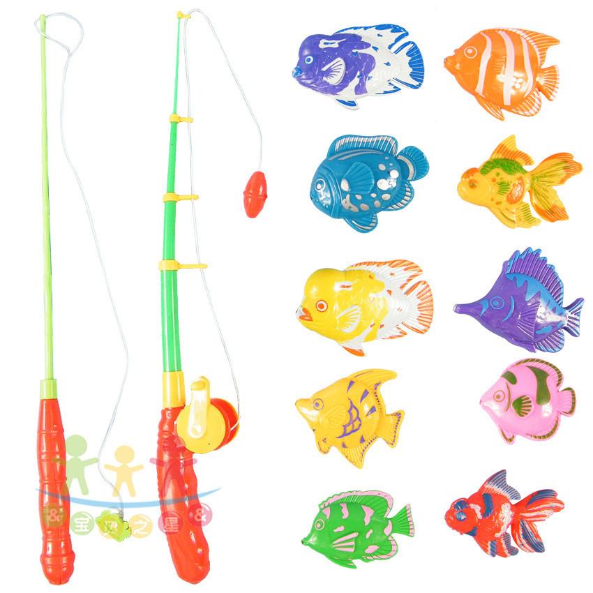 10条鱼两鱼竿七彩鱼热带鱼塑料鱼批发