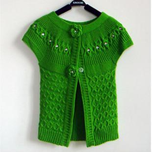 手工编织羊毛衫开衫搭配