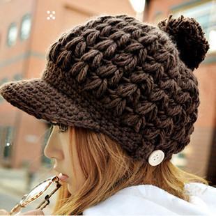 韩版毛线编织帽子搭配