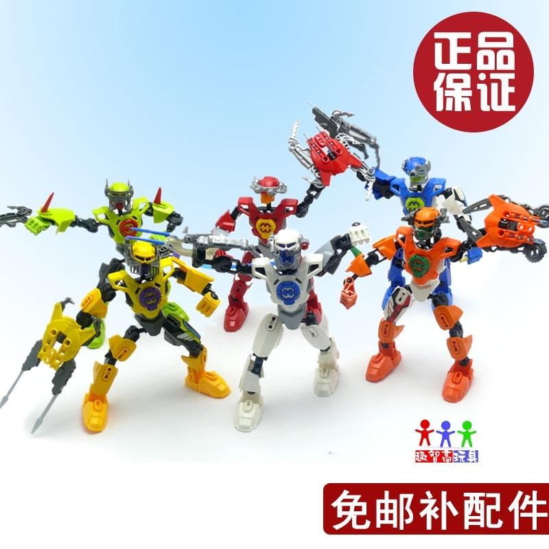 乐高式益智积木 拼装英雄工厂2 机器人超人圣斗士儿童玩具正品