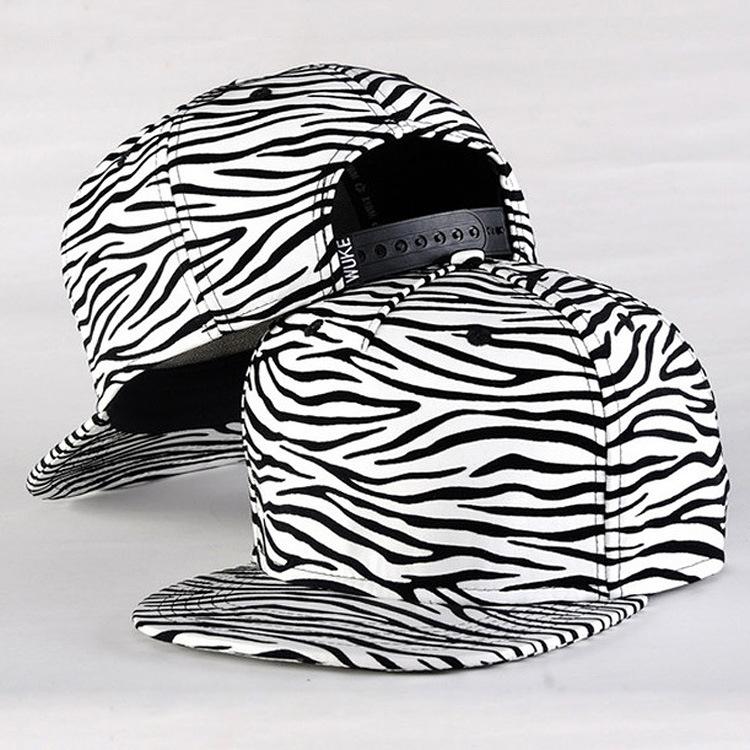 黑白条纹帽子 女韩版潮棒球帽