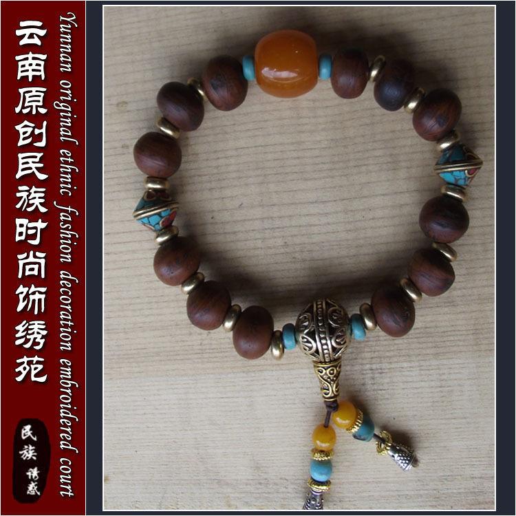 菩提子佛珠手链搭配图片
