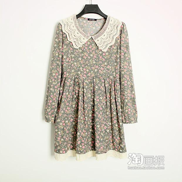 小碎花蕾丝衣服搭配