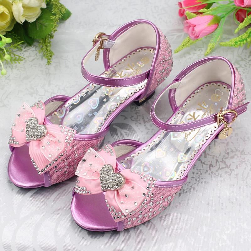 儿童水晶高跟鞋公主凉鞋搭配图片_儿童水晶高