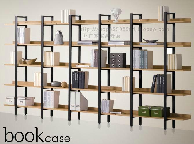 新款宜家特价钢木书架组合书架储物架置物架货架展示