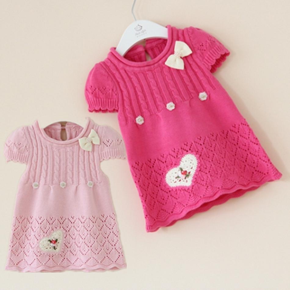 韩版女宝宝婴儿马甲背心裙针织连衣裙子0-1-2岁女童