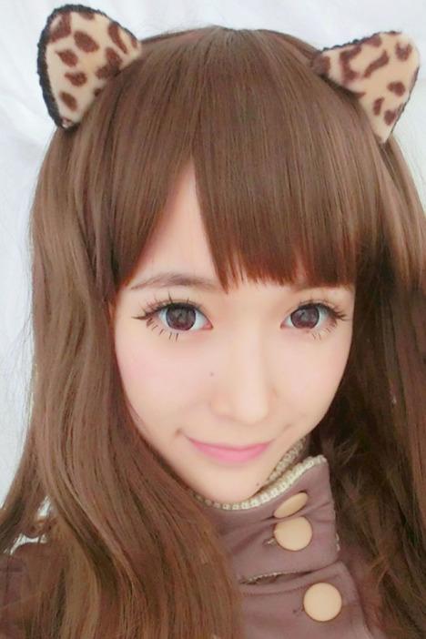 可爱小熊豹纹猫耳朵发箍