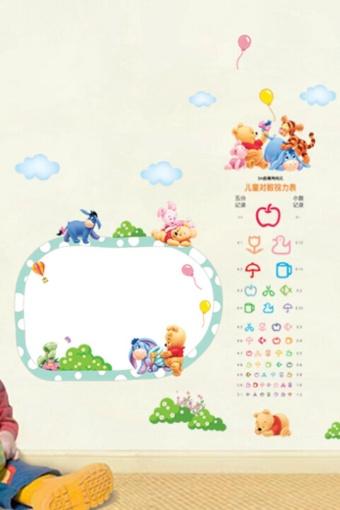 可爱卡通维尼熊宝宝视力墙贴