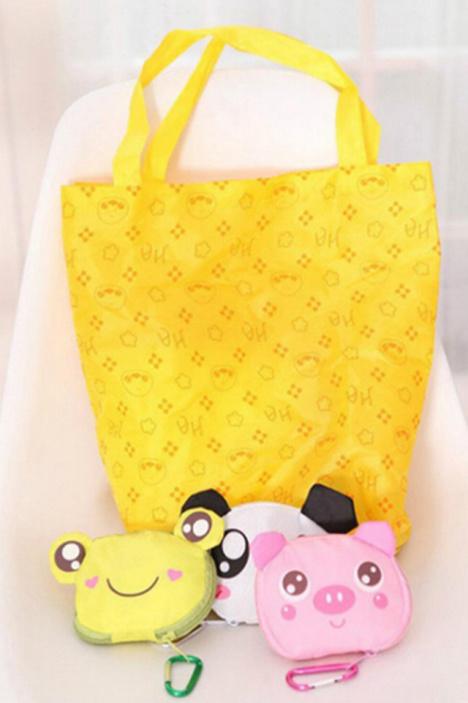 【卡通动物拉链环保购物袋】-null-百货