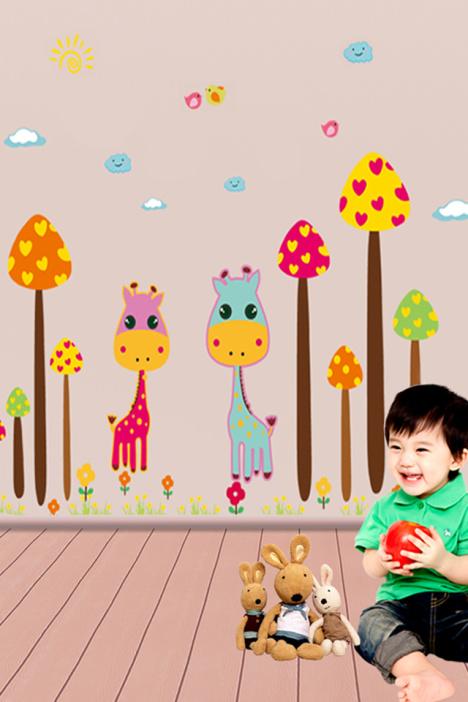 儿童长方形长颈鹿动物纸灯笼