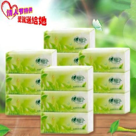 心相印加香绿茶抽纸2层200抽批发包邮 -无类目 百货 抽纸 洗护清洁剂 图片