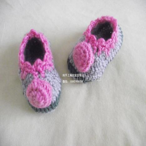 童鞋苏氏编织坊手工毛线鞋子 钩织婴儿鞋
