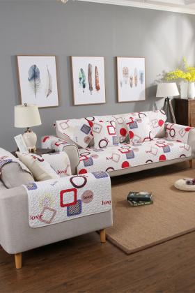 2017斜纹纯棉沙发垫布艺防滑坐垫沙发巾沙发罩沙发套支持定做$26.6图片