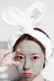 兔耳朵束发带洗漱洗脸发箍她很漂亮同款珊瑚绒束发带不伤发 包邮$9.