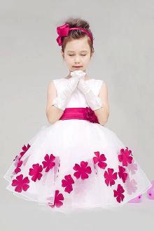 儿童连衣裙儿童公主蓬蓬裙$66-休闲手绘抽褶深紫色蓬蓬裙