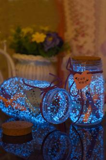 星空漂流瓶荧光折纸玻璃瓶生日礼物$9.9-夏日荧光图片