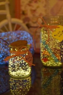 星空漂流瓶荧光折纸玻璃瓶生日礼物$19.5-折纸纸图片