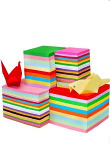 儿童手工彩色折纸幼儿园千纸鹤手工折纸材料正方形剪纸DIY卡纸$9.