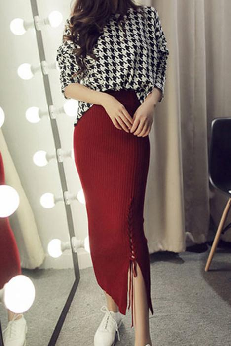 半身裙,长裙,包臀裙,秋冬新款,针织裙