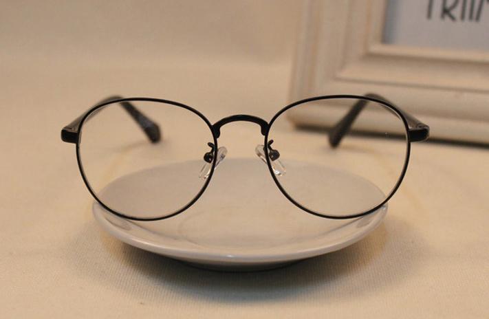 新款细框金属圆形眼镜架