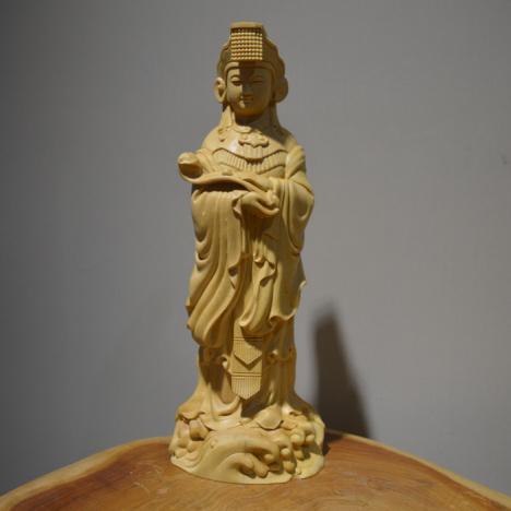 【黄杨木雕居家雕刻风水装饰摆件汽车小摆件工艺品】