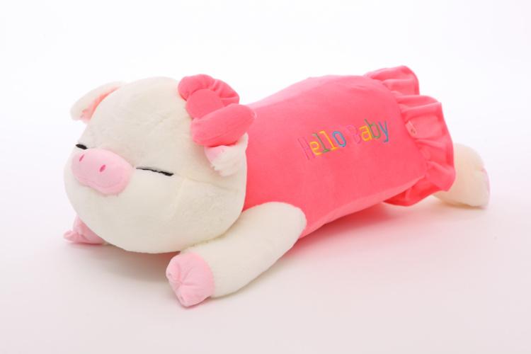 【萌萌猪出品~love会说话可爱趴趴猪睡觉抱枕公仔