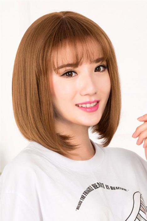 【空气刘海时尚短发女生bobo头大头皮假发蓬松梨花头图片