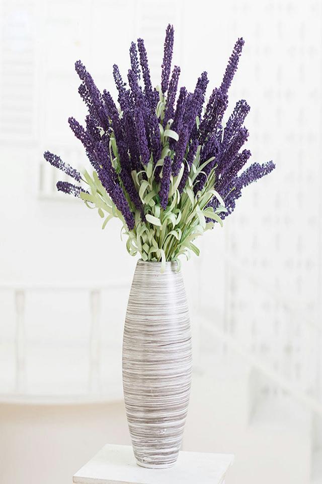 高仿真花套装假花干花薰衣草欧式干花餐桌客厅装饰花