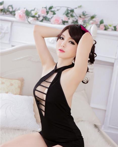 【情趣内衣性感制服诱惑可爱公主露乳挂脖包臀空姐ol
