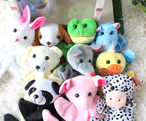 【十二生肖可爱幼儿园手套手指玩偶动物手偶布偶娃娃