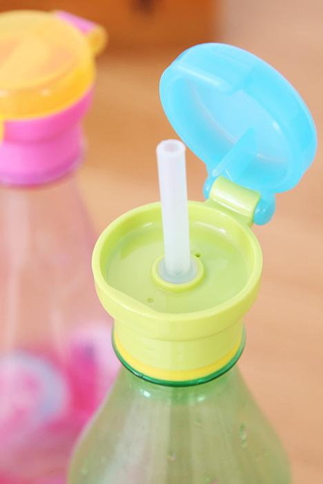 创意儿童防护带吸管的瓶盖宝宝喝水饮料矿泉水瓶吸管