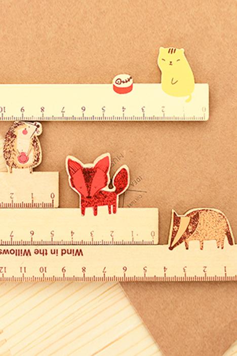 【阿凡大叔❤可爱小动物木尺】-无类目-百货_绘图测量用品_文具纸本_各类尺/三角板-艺品创意家居-蘑菇街优店