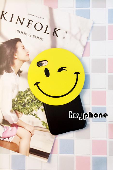 韩国笑脸iphone6s手机壳卡通6plus情侣保护套4.