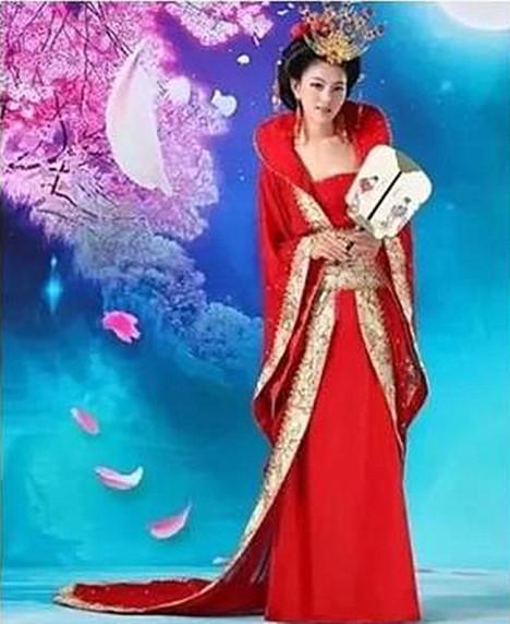古装唐装汉服女 唐朝拖尾贵妃服装婚服 古代仙女装美公主演出服装