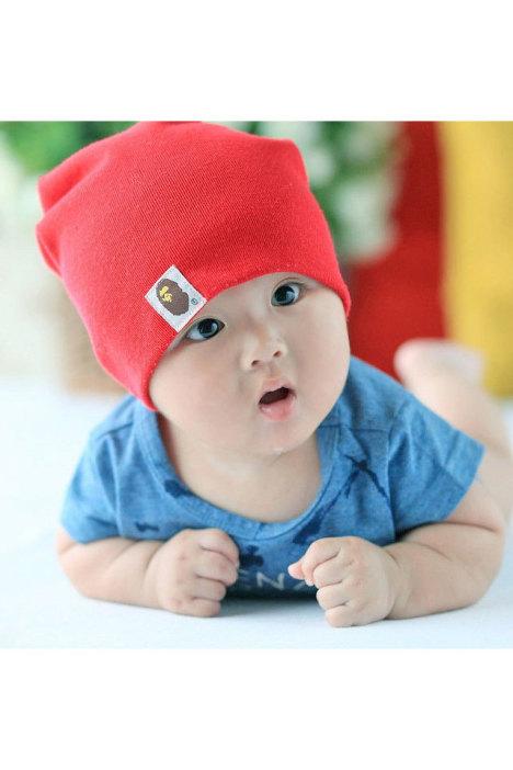 【猿人头宝宝帽子春天儿童春秋帽