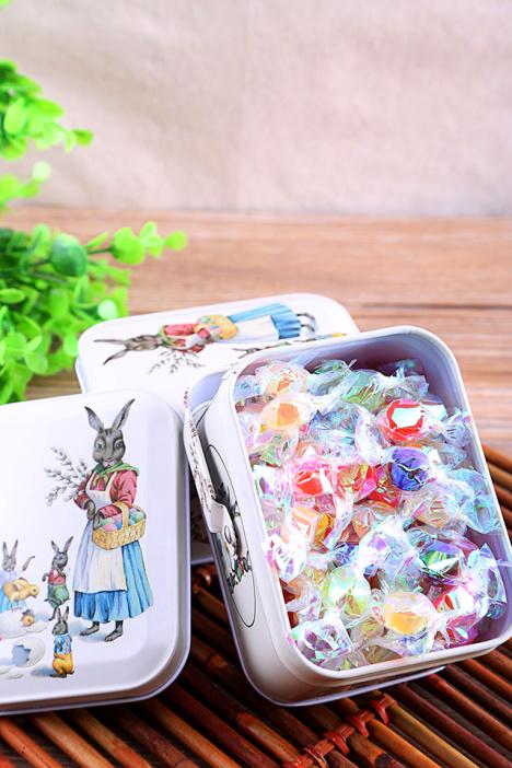 兔妈妈马口铁礼盒装 千纸鹤许愿糖 送女友生日礼物图片