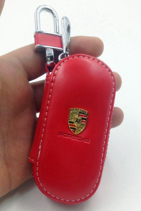 亮面皮 保时捷钥匙壳卡宴梅拉汽车钥匙包套专用真皮