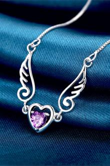 天使羽翼项链 时尚唯美女式天使之翼锁骨项链 女