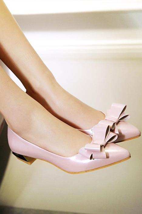 尖头蝴蝶结女鞋