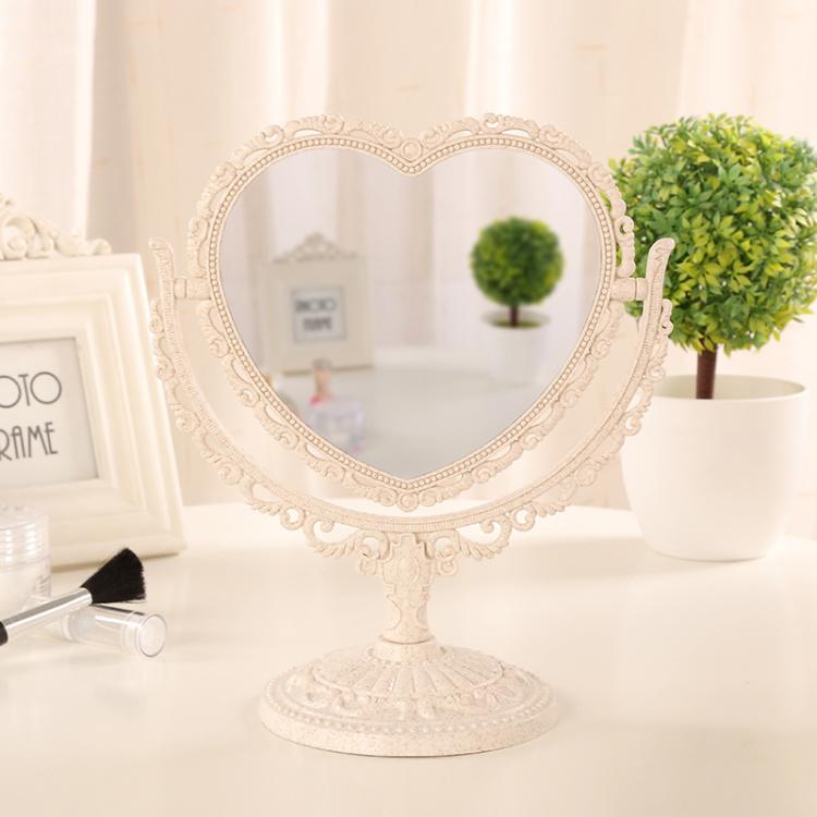 居优乐送随身镜子梳子欧式镜子公主镜