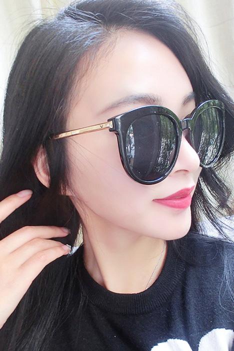 太阳镜女士,圆脸大框,韩国图片