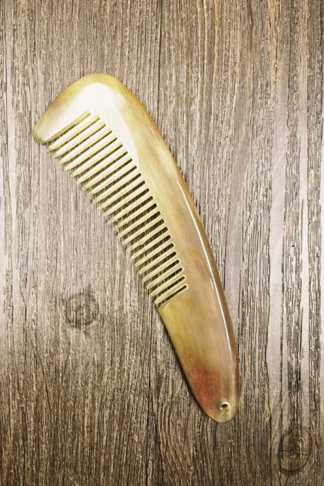 梳子防静电 按摩可爱便携小梳子 天然羊角