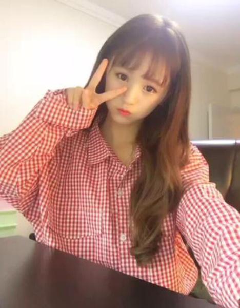网红同款,空气刘海长直发,空气感刘海内扣,韩国女生发型图片