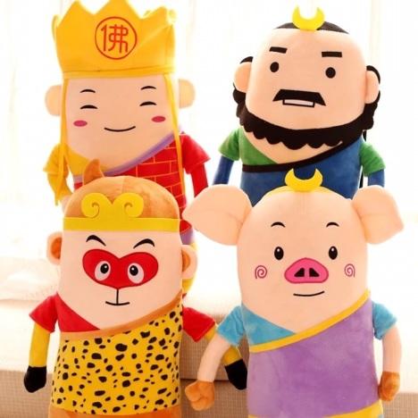 q萌西游记 大圣孙悟空猪八戒沙和尚唐僧毛绒公仔儿童玩具布娃娃