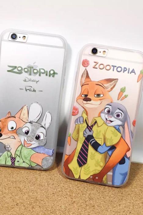 【疯狂动物城尼克朱迪兔子iphone6s手机壳苹果6s全包