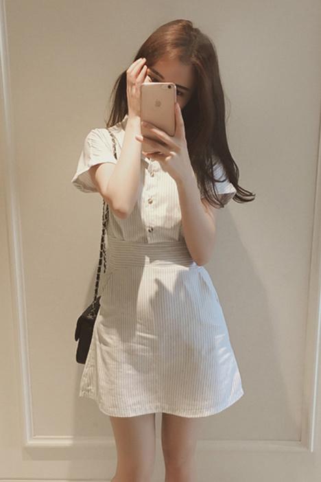 衬衫,连衣裙,条纹,裙子