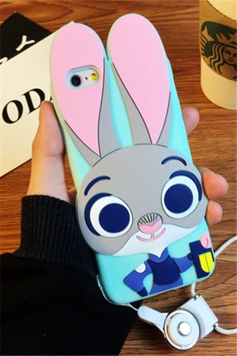【疯狂动物城朱迪兔子iphone6手机壳苹果6plus保护壳