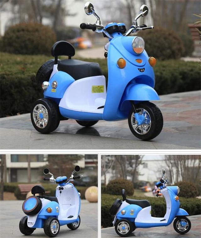儿童电动摩托车米奇踏板式小木兰电动车小绵羊三轮电动车