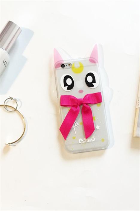 【透明露娜猫苹果6s plus手机壳】-null-3c数码配件